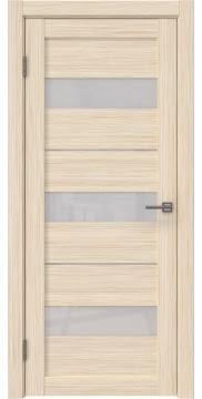 Межкомнатная дверь, RM034 (экошпон беленый дуб FL, лакобель белый)