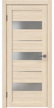 Межкомнатная дверь, RM034 (экошпон беленый дуб FL, матовое стекло)