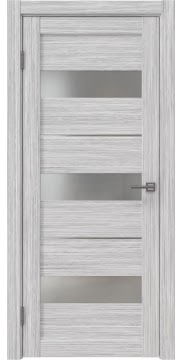Межкомнатная дверь RM034 (экошпон «серый дуб FL», матовое стекло) — 9167