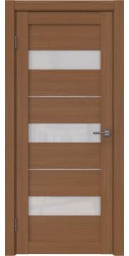 Межкомнатная дверь, RM034 (экошпон орех FL, лакобель белый)