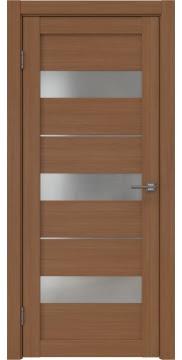 Межкомнатная дверь, RM034 (ПВХ цвета орех, остекленная)