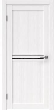 Межкомнатная дверь, RM035 (экошпон белый FL, лакобель черный)