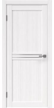 Межкомнатная дверь, RM035 (экошпон белый FL, матовое стекло)