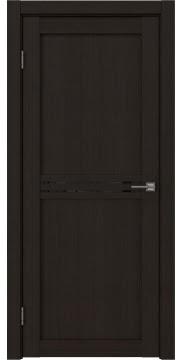 Межкомнатная дверь, RM035 (экошпон венге FL, лакобель черный)