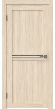 Межкомнатная дверь RM035 (экошпон «беленый дуб FL», лакобель черный) — 9208