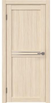 Межкомнатная дверь, RM035 (экошпон беленый дуб FL, матовое стекло)