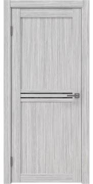 Межкомнатная дверь RM035 (экошпон «серый дуб FL», лакобель черный) — 9211