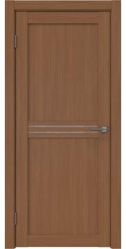 Межкомнатная дверь, RM035 (экошпон орех FL, лакобель белый)