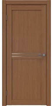Межкомнатная дверь, RM035 (экошпон орех FL, матовое стекло)