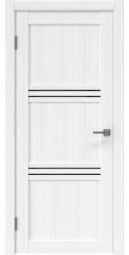 Межкомнатная дверь, RM036 (экошпон белый FL, лакобель черный)