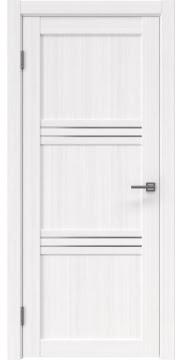 Межкомнатная дверь, RM036 (экошпон белый FL, матовое стекло)