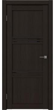Межкомнатная дверь, RM036 (экошпон венге FL, лакобель черный)