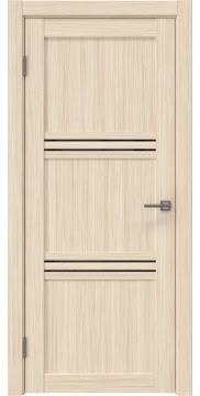 Межкомнатная дверь, RM036 (экошпон беленый дуб FL, лакобель черный)