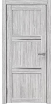 Межкомнатная дверь, RM036 (экошпон серый дуб FL, матовое стекло)