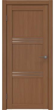 Межкомнатная дверь, RM036 (экошпон орех FL, матовое стекло)