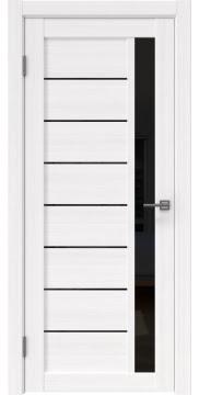 Межкомнатная дверь RM037 (экошпон «белый FL», лакобель черный) — 9232