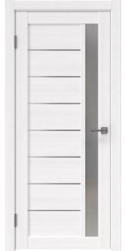 Межкомнатная дверь, RM037 (экошпон белый FL, матовое стекло)