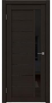 Межкомнатная дверь, RM037 (экошпон венге FL, лакобель черный)