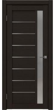 Межкомнатная дверь, RM037 (экошпон венге FL, матовое стекло)