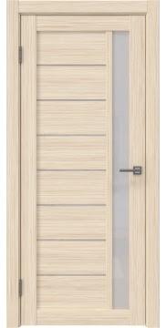 Межкомнатная дверь, RM037 (экошпон беленый дуб FL, лакобель белый)