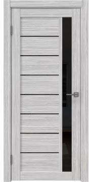 Дверь RM037 (экошпон серый дуб FL, лакобель черный)