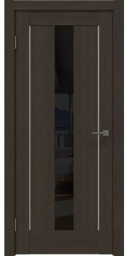 Межкомнатная дверь, RM043 (экошпон мокко, лакобель черный)