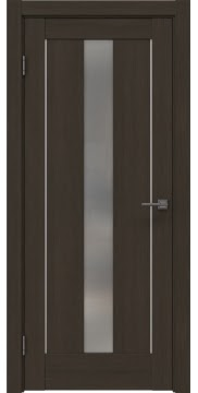 Межкомнатная дверь, RM043 (экошпон мокко, матовое стекло)