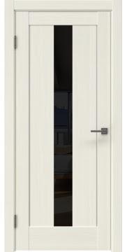 Межкомнатная дверь RM043 (экошпон «эш вайт мелинга» / лакобель черный) — 0971