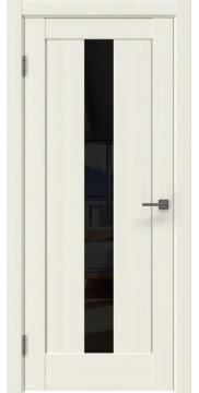 Межкомнатная дверь RM043 (экошпон «сандал белый» / лакобель черный) — 0959