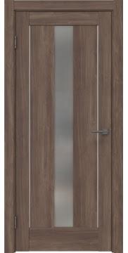 Межкомнатная дверь RM043 (экошпон «античный орех» / матовое стекло) — 0969