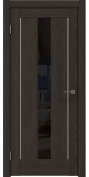 Межкомнатная дверь RM043 (экошпон «венге мелинга» / лакобель черный) — 0953
