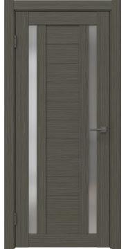 Межкомнатная дверь, RM045 (экошпон грей мелинга, матовое стекло)