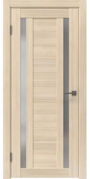 Межкомнатная дверь, RM045 (экошпон капучино мелинга, матовое стекло)
