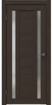 Межкомнатная дверь, RM045 (экошпон мокко, матовое стекло)
