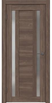 Межкомнатная дверь RM045 (экошпон «античный орех» / матовое стекло) — 0990