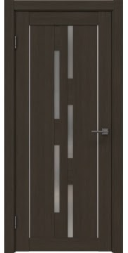 Межкомнатная дверь, RM046 (экошпон мокко, матовое стекло)