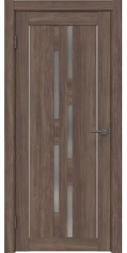 Межкомнатная дверь RM046 (экошпон «античный орех» / матовое стекло) — 0999