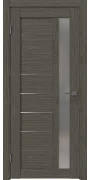 Межкомнатная дверь, RM047 (экошпон грей мелинга, матовое стекло)