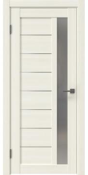 Межкомнатная дверь RM047 (экошпон «сандал белый» / матовое стекло) — 1003
