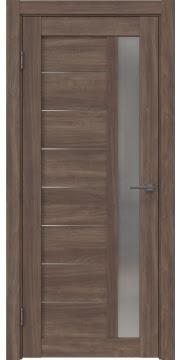 Межкомнатная дверь RM047 (экошпон «античный орех» / матовое стекло) — 1006