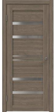 Межкомнатная дверь, RM049 (экошпон античный орех, лакобель белый)