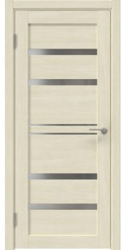 Межкомнатная дверь, RM049 (экошпон дуб млечный, лакобель белый)