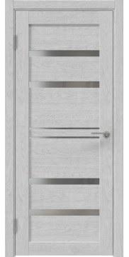 Межкомнатная дверь, RM049 (экошпон серый дуб, лакобель белый)