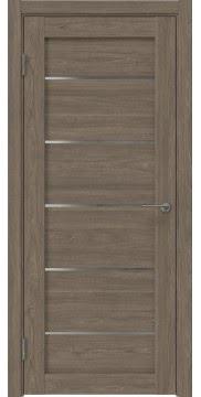 Межкомнатная дверь, RM050 (экошпон античный орех, лакобель белый)