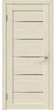 Межкомнатная дверь, RM050 (экошпон дуб млечный, лакобель белый)