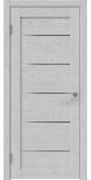 Межкомнатная дверь, RM050 (экошпон серый дуб, лакобель белый)
