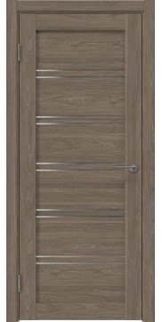 Межкомнатная дверь, RM051 (экошпон античный орех, лакобель белый)