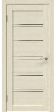 Межкомнатная дверь, RM051 (экошпон дуб млечный, лакобель белый)