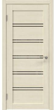 Межкомнатная дверь, RM051 (экошпон дуб млечный, лакобель черный)