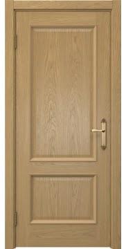 Дверь классика SK002 (шпон дуб натуральный, глухая)